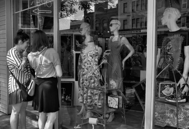 hedy bach photography ~ FUJI x100  ~ edmonton whyte ave. ~ girls