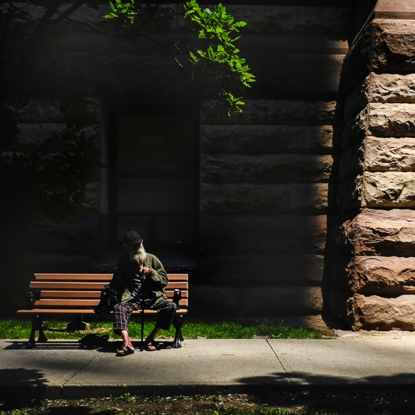 Hedy Bach Photography - old man on bench TO