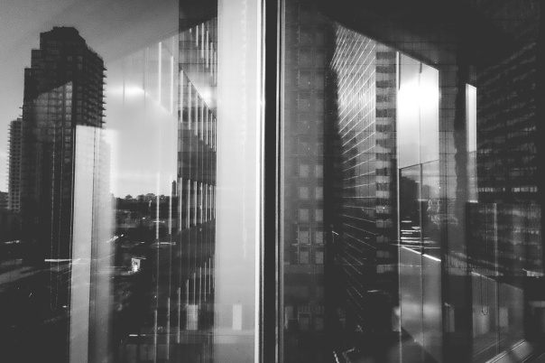 hb images - reflect buildings b-w - 1