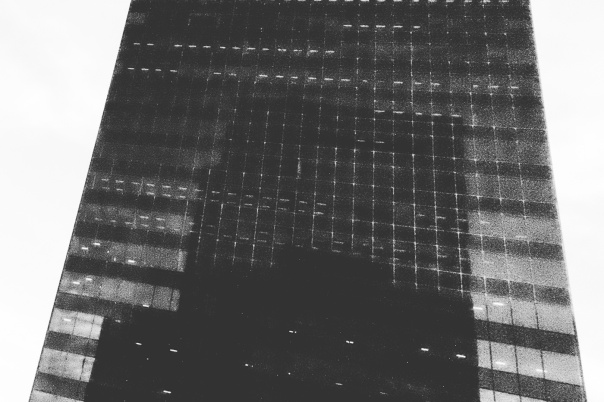 hb images - reflect buildings b-w - 5