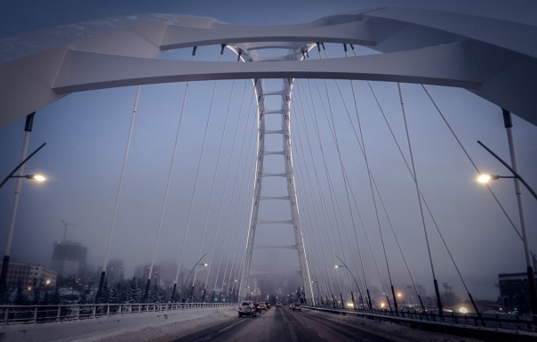 hb images - bridge - winter morning_
