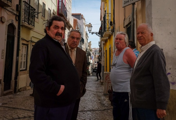 hb images - LIsboa - street with 4 men