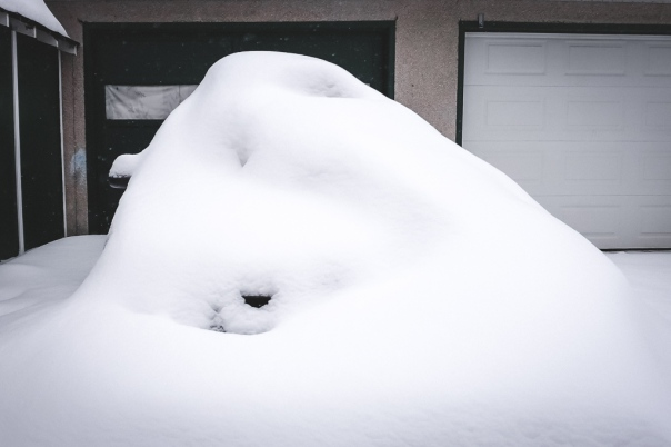 hedy bach images - snow car - 5
