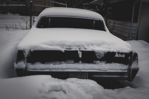 hedy bach images - snow car - 6